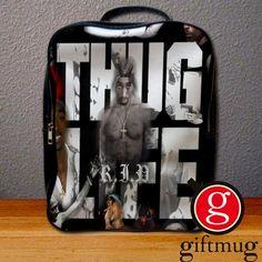 2pac tupac Shakur Thug Live Backpack for Student