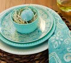 Emma Salad Plate & Snack Bowls, Set of 4 | Pottery Barn