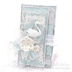 My Little Craft Things: Swan Lake Birthday Shabby Chic Karten, Shabby Chic Cards, Vintage Cards, Vintage Paper, Shabby Chic Birthday, Bee Cards, Swan Lake, Card Making Inspiration, Pretty Cards