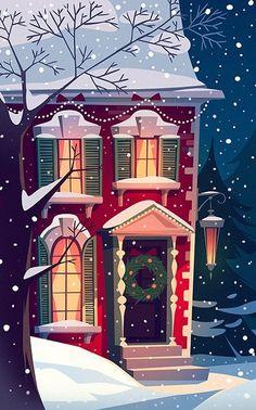 The holidays christmas art, vector christmas, vintage christmas cards, wint Christmas Mood, Noel Christmas, Vintage Christmas Cards, Holiday Cards, Vector Christmas, Toddler Christmas, Xmas Cards, Simple Christmas, Handmade Christmas