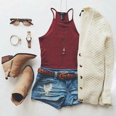 This outfit is very cute and casual, it would be nice for a day in the park. Fashion Mode, Look Fashion, Teen Fashion, Fashion Outfits, Mode Lookbook, Casual Outfits, Cute Outfits, Teen Wolf Outfits, Casual Clothes