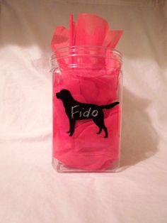Chalkboard Labrador Labels - Set of 6. $10.00, via Etsy. Other breeds available!