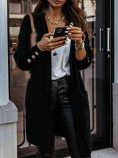 Ladies casual V-neck printed short sleeve dress - realyiyi.com Loose Sweater, Long Sleeve Sweater, Fleece Cardigan, Cheap Coats, Vestido Casual, White V Necks, Open Front Cardigan, 50 Fashion, Fall Wardrobe