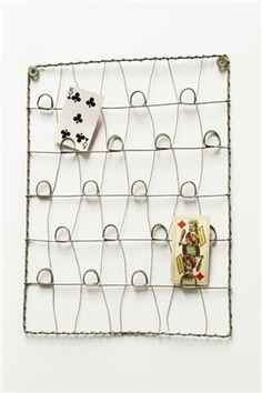 Zinc Wire Card Holder, Mothology, $14.95