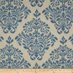 Swavelle/Mill Creek Vitiello Denim Blue from @fabricdotcom  Screen printed on (approx. 7.5 ounce) cotton this fabric has an oatmeal/linen appearance and is very versatile. Perfect for window accents (draperies, valances, curtains and swags), accent pillows, bed skirts, duvet covers, slipcovers, upholstery and other home decor accents. Create handbags, tote bags, aprons and more. Colors include denim blue on an oatmeal background.