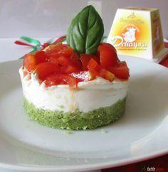 Cheesecake salata tricolore... con camoscio d'oro!
