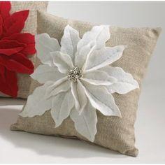 pointsietta pillow, I think we could make these Nikki!!!