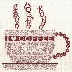 "Let's Do Coffee Counted Cross Stitch Kit-8.75""X8.75"" 14 Count"