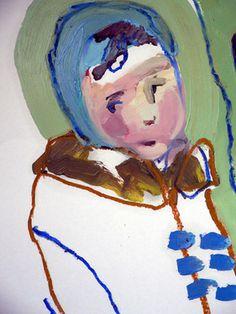 """Sally Williams; Painting, """"Duffle Coat"""" #art"""