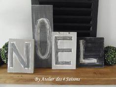# NOEL sur panneaux de bois, par l' Atelier des 4 saisons.