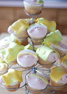 Baby shower cupcakes by Burton Avenue.  Too cute!