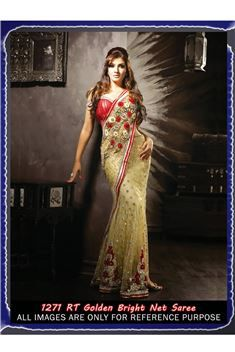 Raveena Tandon Bright Net Bollywood Replica Saree