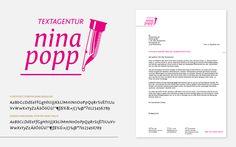 Corporate Identity Textagentur Nina Popp Corporate Identity, San, Design, Beautiful Words, Nice Asses, Branding, Design Comics, Visual Identity