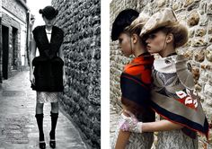 tt French Vogue July 2008  photos by Partick Demarchelier  I love the styling