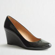 Factory Sylvia patent wedges - Heels & Wedges - FactoryWomen's Shoes - J.Crew Factory