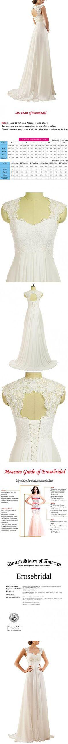 Erosebridal 2017 Women's Plus Size Wedding Dress for Beach Bridal Gown Size 22w Ivory