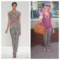 Do you love Mara Hoffman, but wonder how to make her runway styles work in the real world? Here's how...just keep it simple with a cute top and basic accessories!