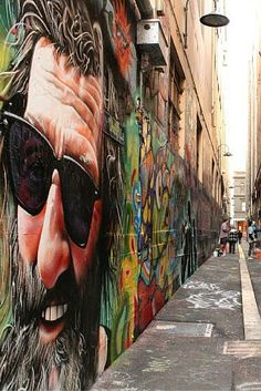 Melbourne's street art is iconic. From Hosier Lane to ACDC Lane and the new Upper West Side Precinct - street art is truly on show in Melbourne. Best Street Art, Amazing Street Art, 3d Street Art, Street Artists, Murals Street Art, Graffiti Murals, Art Mural, Street Art Graffiti, Banksy