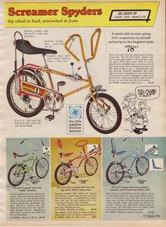 1969 Screamer Spyders bicycles