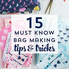 "I love to sew bags and purses but know that it can be intimidating if you've not tried it before - (or if you're more accustomed to making quilts). I sat down and typed up 15 tips that I think are ""must knows"" when it comes to making bags to help you out a bit. Find them in #linkinbio ! #sewing #sewingproject #bagsewing #rileyblakedesigns"
