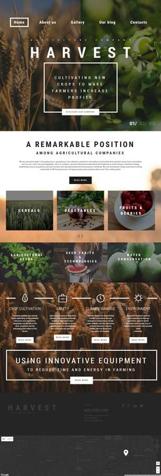 Harvest is Premium full Responsive #WordPress #AgricultureTheme. Cherry Framework. If you like this #ParallaxTheme visit our handpicked list of best Agriculture Themes at: http://www.responsivemiracle.com/best-wordpress-agriculture-theme/