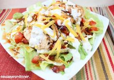 Buffalo Chicken Salad with Copycat Winger's Amazing Sauce!