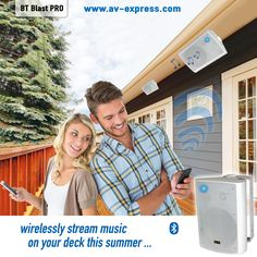 Wireless Outdoor Speakers for your sundeck,garage,basement, and boat! Wirelessly Stream Music on Your Deck! Rock Speakers, Wireless Outdoor Speakers, Outdoor Landscaping, Outdoor Planters, Cool Fathers Day Gifts, Good Good Father, Outdoor Projects, Decks, Just In Case