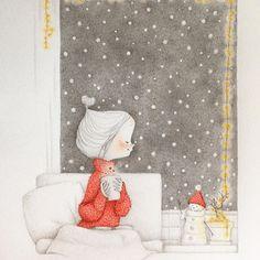 . . . . 나의 첫 눈은 언제...? . . . . . All illustrated by me. #character #illust #sketch #drawing #painting #artwork #doodle #design #twinkle #winter #teatime #coffee #캐릭터 #일러스트 #디자인 #데일리 #스케치 #그림 #작업실 #겨울 #티타임 #커피 #아직도 #첫눈 #못봤다 # #