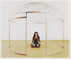 Nil Yalter, Topak Ev, 1973  A nomad's tent that is a study of private, public, and feminine spaces.