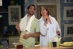 Miranda Hart and Tom Ellis in Miranda 2009