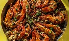 Prawns with garlic and paprika Spanish Cuisine, Spanish Tapas, Spanish Food, Spanish Recipes, Fish Supper, Hottest Chili Pepper, Seafood Dishes, Food Presentation, The Guardian