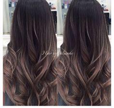 Ombre cor para cabelos mais escuros