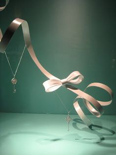Elegant jewellery display at Tiffanys