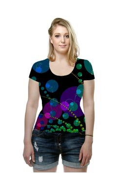 By Diane  Clancy, OArtTee specializes in creating amazing, vibrant and colorful Wearable Art  #oarttee
