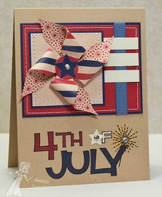 of July Word a la Carte stamp from Taylored Expressions 4th Of July Parade, Fourth Of July, July Birthday, Birthday Cards, 4th Of July Fireworks, 4th Of July Decorations, Your Cards, Diy Cards, Homemade Cards