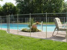 Landscaping Around The Pool love the self closing locking gate feature