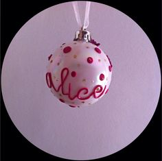 Christmas bauble! with name