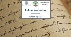 """Lekce švabachu, kurent v praxi Předprodej do 14.4. s 62% slevou a nyní e-kniha """"Rodokmen..."""" zdarma, jako bonus 🎁"""