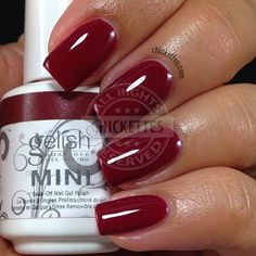 Gelish Hello Merlot! swatch by Chickettes.com