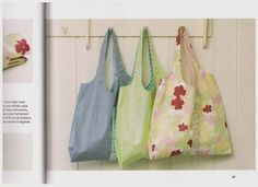 How to sew a foldable shopping bag?  How to sew a bag.