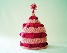 Hand Knit Hat - Hand Knitted Baby Hat - Girls Knit Hat - the FIONA Hat in Raspberry Pink (Newborn Baby to Adult sizes) Fall Accessories