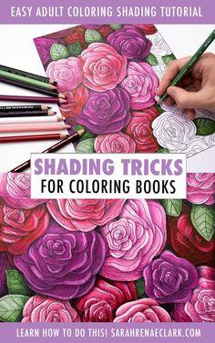 Colored Pencil Lessons, Blending Colored Pencils, Colored Pencil Tutorial, Colored Pencil Techniques, Coloring Tips, Adult Coloring, Coloring Books, Coloring Pages, Watercolor Pencil Art
