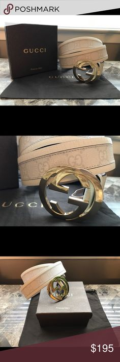 093b56587b1 NWT Authentic Men s Gucci Belt White Monogram AUTHENTIC. Do not question me  anymore please.