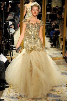 Marchesa Fall 2012 Ready-to-Wear Fashion Show - Toni Garrn
