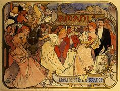 Amants, Alfons Mucha | Strings of Pearl's | Flickr