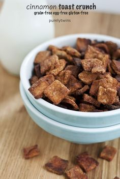 Gluten free healthy cinnamon toast crunch cereal from PurelyTwins.com #Fitfluential #EAT #GlutenFree