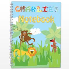 Kids love to draw, doodle, make notes etc.  especially in a notebook with their name on. www.cooper-thomas.co.uk