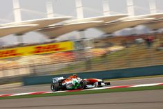 Round 3, UBS Chinese Grand Prix 2013, Practice, P9 #14 Paul di Resta (1m36.595) and P8 #15 Adrian Sutil (1m36.514) (Above), Sahara Force India F1 Team