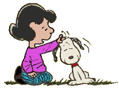 """Snoopy: """"I'm glad, Lucy has a change of heart for me."""""""