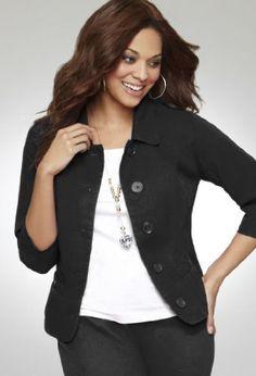 Avenue Plus Size Cropped Jacket